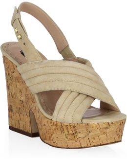 Charlize Chunky Suede Platform Sandals