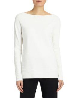 Rib-knit V-back Sweater