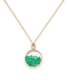 Baby Chivor Emerald & 18k Yellow Gold Medallion