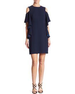 Lambada Ruffled Cold-shoulder Dress