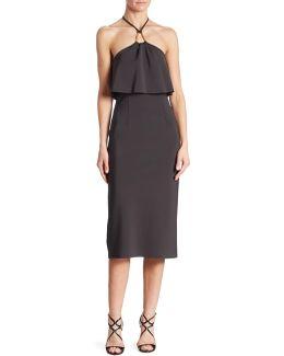 Soozy Popover Neoprene Halter Dress