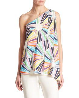 Ezmeralda One-shoulder Silk Top