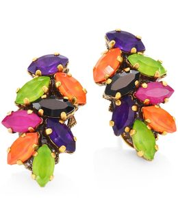 Technicolor Crystal Stud Earrings