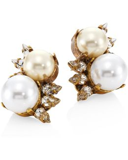 Dancing Queen Faux-pearl Stud Earrings