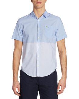 Engineered Stripe Poplin Short Sleeve Shirt