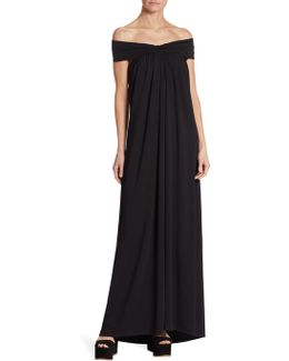 Luella Off-the-shoulder Maxi Dress