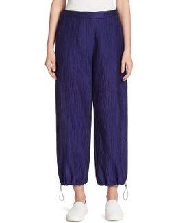 Crinkled Jogger Pants