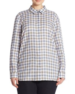 Brody Gingham Linen Blouse