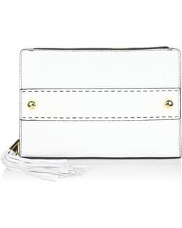 Astor Tassel Pebble Leather Clutch