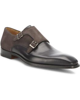 Saks Fifth Avenue By Magnanni Amelio Leather Monk Strap