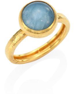 Amulet Hue Aquamarine & 22-24k Yellow Gold Ring