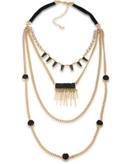 Rock It Out Four-row Necklace