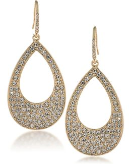 Prom Queen Open Teardrop Pave Earrings