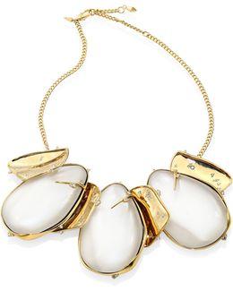 Lucite Circle Bib Necklace