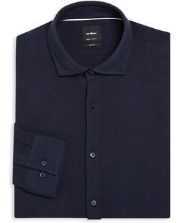 Textured Cotton Regular-fit Dress Shirt