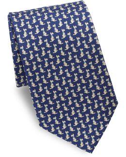Scotty Dog Silk Tie