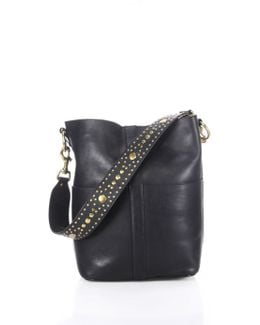 Ilana Studded Leather Hobo Bag