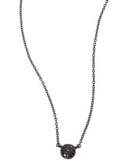 Black & Black Mini Icon Diamond Pendant Necklace