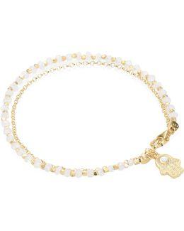 Biography Moonstone & White Sapphire Hamsa Bracelet