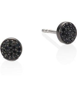 Black & Black Mini Icon Diamond Stud Earrings