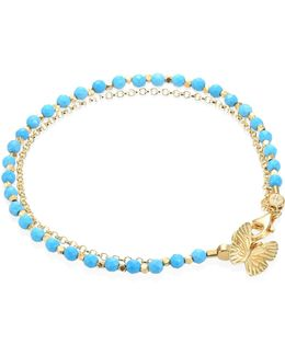 Biography Turquoise & White Sapphire Butterfly Bracelet