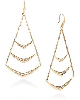 Knife Edge Pavé Chandelier Earrings