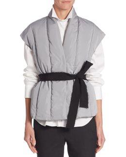 Cap Sleeve Belted Vest