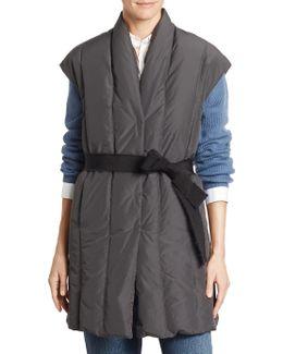 Tafta Long Puffer Vest