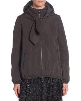 Hooded Zip Front Jacket