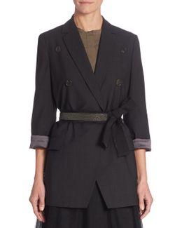 Wool-blend Belted Jacket
