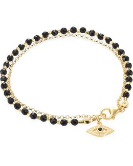 Biography Black Spinel & White Sapphire Evil Eye Bracelet
