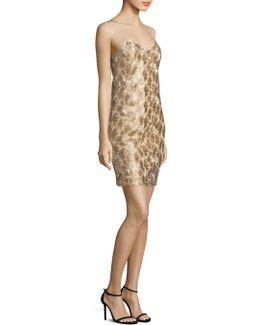 Highlight Metallic Slip Dress