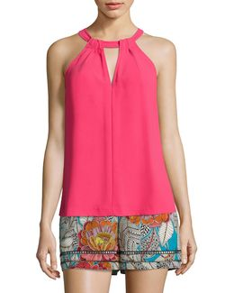 Quince Crepe Halter Top