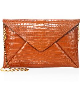 Nile Crocodile Envelope Clutch