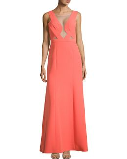 Woven Evening Gown