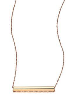 Straws 18k Rose Gold Pendant Necklace