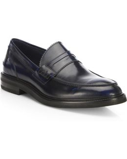 Dainite Burnished Leather Penny Loafers