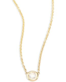 Diamond & 14k Yellow Gold Necklace