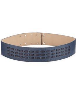 Whipstitch Leather Belt