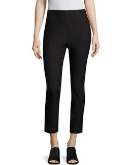 Cropped Stretch-cotton Leggings