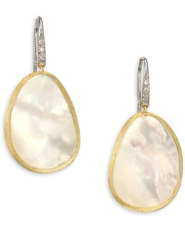 Lunaria Diamond, Mother-of-pearl & 18k Yellow Gold Drop Earrings