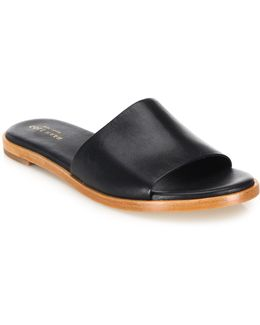 Anica Leather Slides