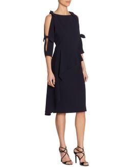 Cutout Peplum Cold Shoulder Dress