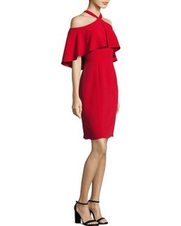 Halter Cold-shoulder Cropped Dress