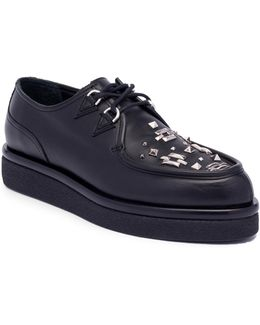 Studded Leather Oxfords