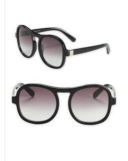 Marlow 59mm Oversize Aviator Sunglasses