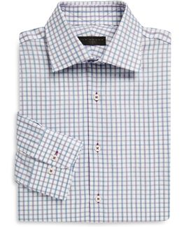 Regular-fit Tattersall Cotton Dress Shirt