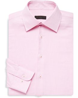 Regular-fit Textured Cotton Shirt