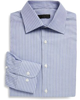 Regular-fit Dobby Striped Cotton Dress Shirt