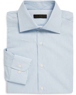 Regular-fit Striped Poplin Dress Shirt